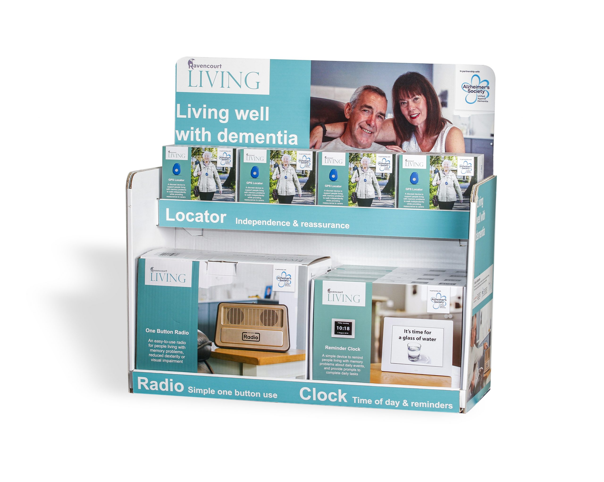 Living Well With Dementia point of sale display unit
